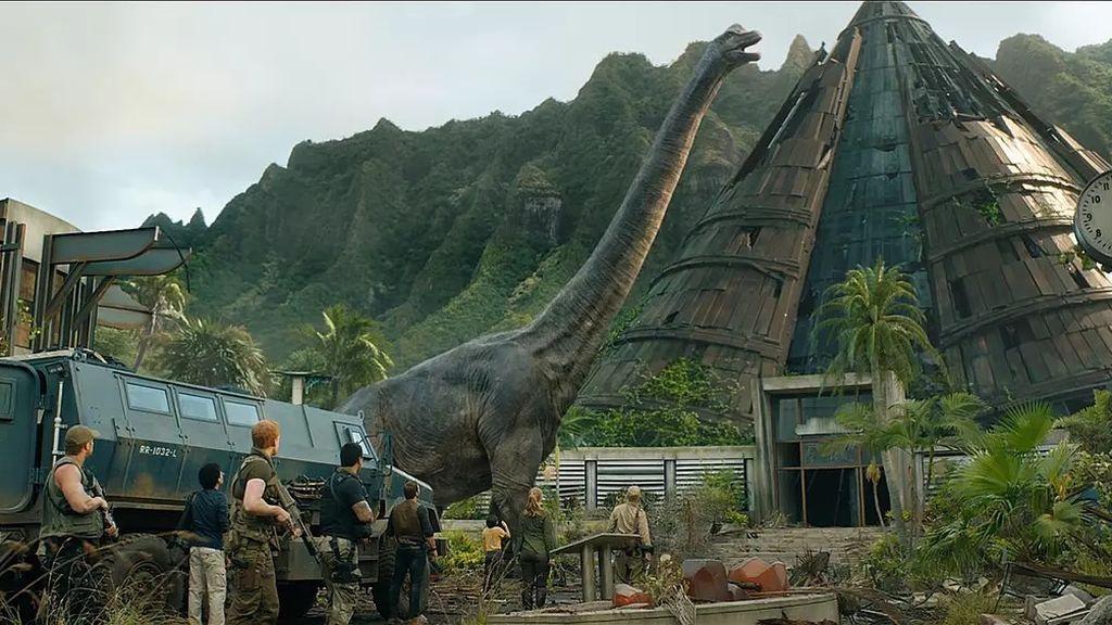 Braquiosaurio en Jurassic World: El reino caído