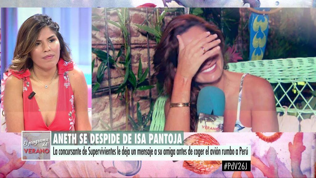Aneth se despide de Isa Pantoja llorando y ella responde sobre el 'veto' en Cantora