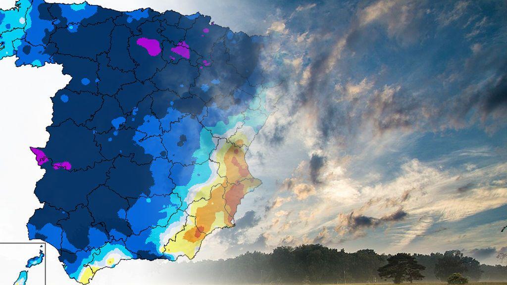 Hasta 15ºC por debajo de lo normal: las zonas más afectadas por el desplome de los termómetros