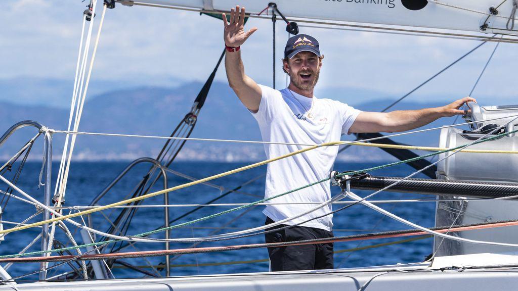 Pierre Casiraghi, a bordo del 'Malizia'.
