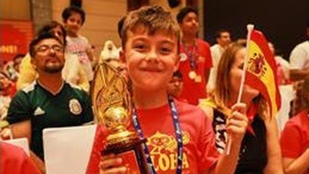 Guillermo, un niño leonés de 7 años, tercer puesto en el Campeonato Mundial de Cálculo Mental