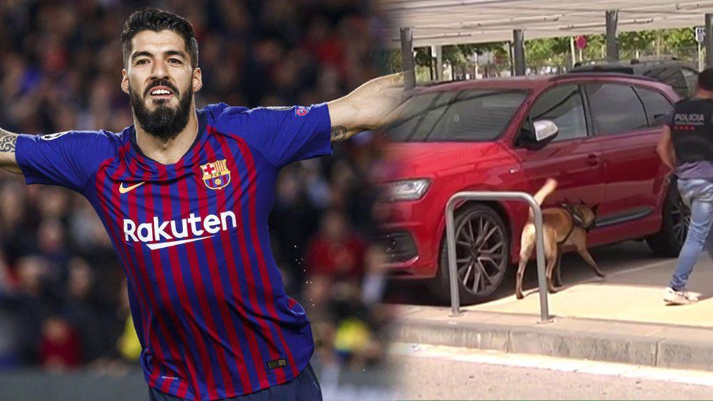 La policía rastrea el coche de Luis Suarez por la posible presencia de un objeto peligroso