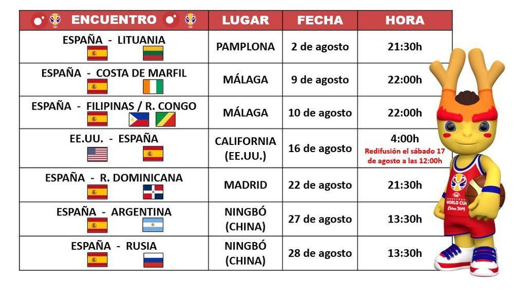 La gira preparatoria para la Copa del Mundo FIBA 2019 se juega en Cuatro