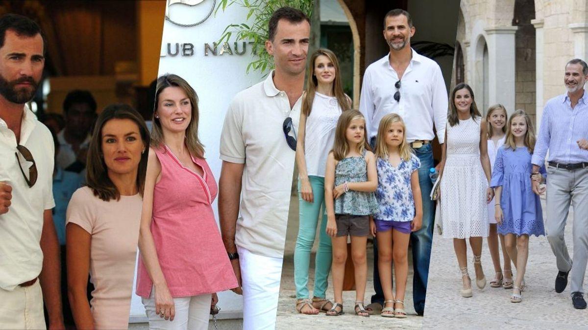 Ranking Real de los posados de veraniegos de Letizia, Felipe y familia en Marivent