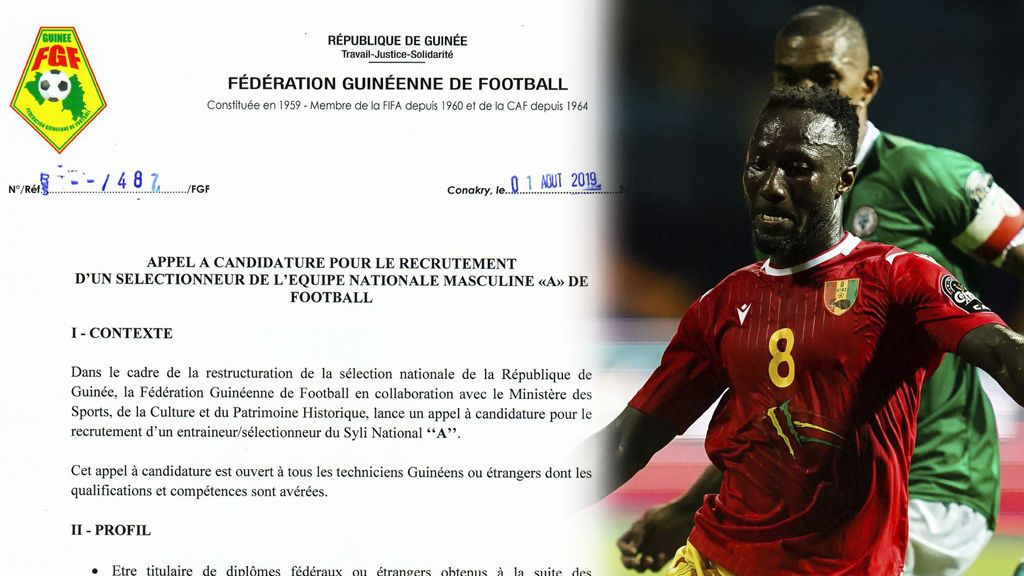 La selección de Guinea busca un nuevo seleccionador por Internet