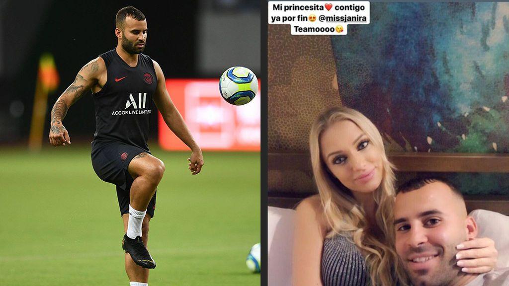 """El emotivo reencuentro de Jesé Rodríguez con su novia tras la larga gira con el PSG: """"Por fin mi princesa"""""""