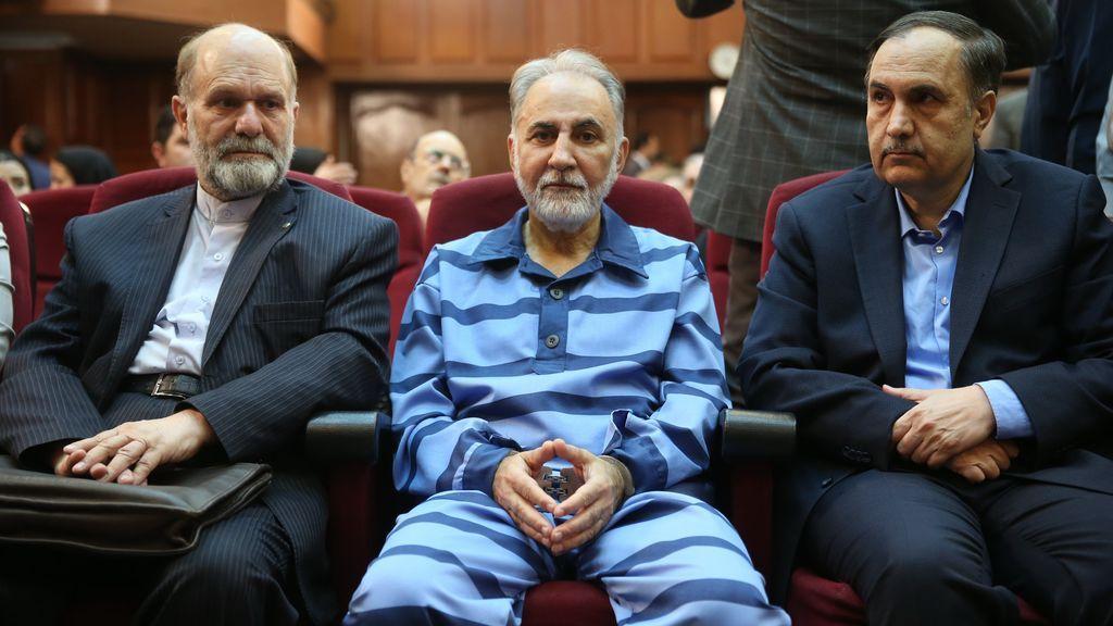 Mohammad Ali Najafi durante el juicio