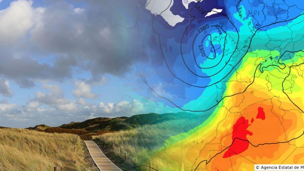 Tormentas y 'bochornazo': el aire africano chocará con el sistema frontal el martes