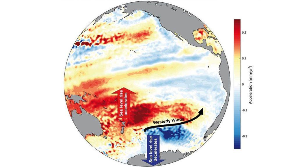 La aceleración en el aumento del nivel del mar empezó en los años 60
