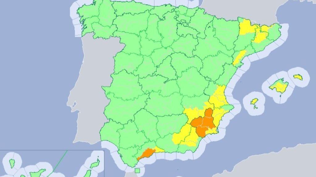 El riesgo elevado de incendios se reduce y se concentra mañana en la mitad este peninsular