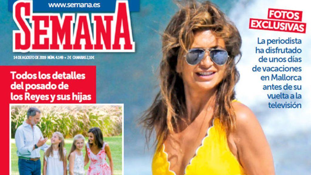"""Gema López 'Sálvame', espectacular en bañador a los 48 años: """"Todo lo bueno llega"""""""