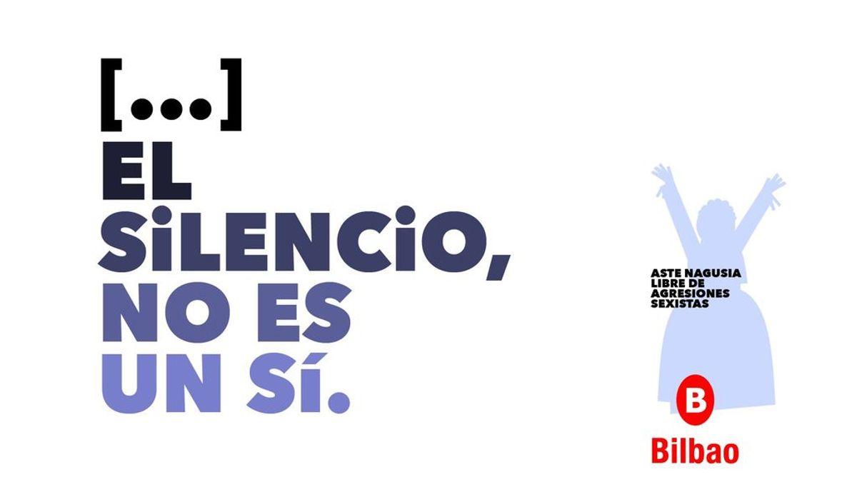 Una coma mal puesta cambia el significado del lema contra la violencia de género del ayuntamiento de Bilbao