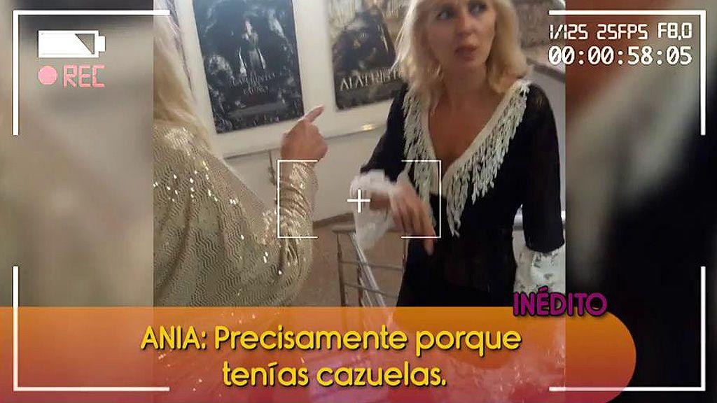 El encontronazo de Ania Iglesias y Lydia Lozano en camerinos