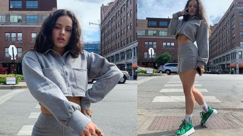 Las zapatillas verdes de Rosalía son un homenaje secreto a una cantante y cuestan 1.075 dólares