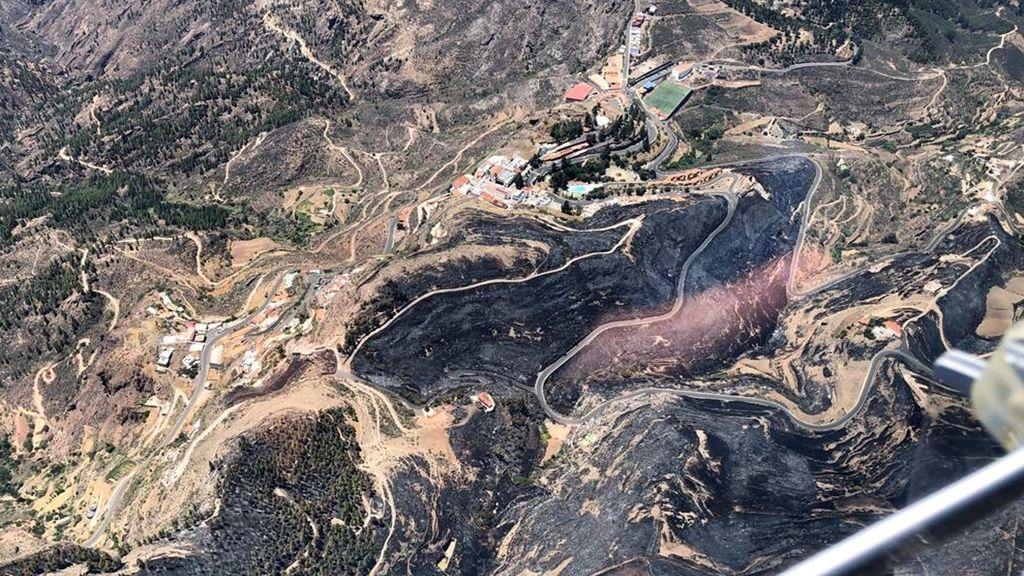 Arde el corazón de Gran Canaria, en imágenes