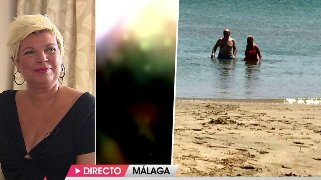 Carmen Borrego, pillada en bañador