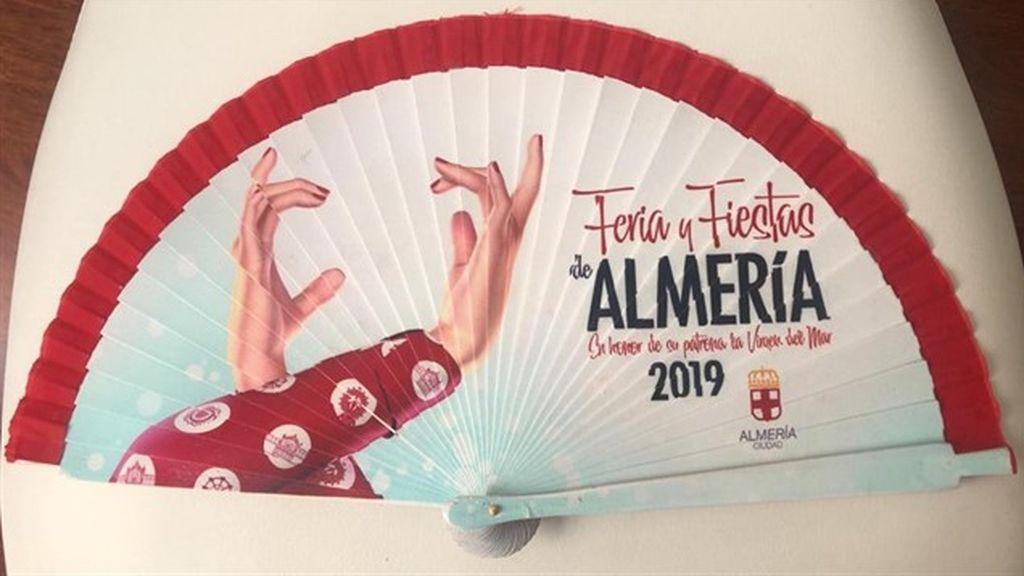 Abanico de la Feria y Fiestas de Almería 2019, diseñado por Rubén Lucas García.