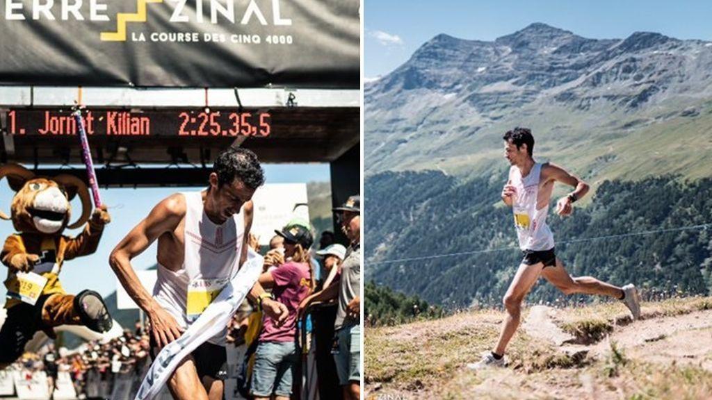 El aplaudido gesto de Kilian Jornet: gana con record la Sierre-Zinal y se para unos segundos a limpiar el monte