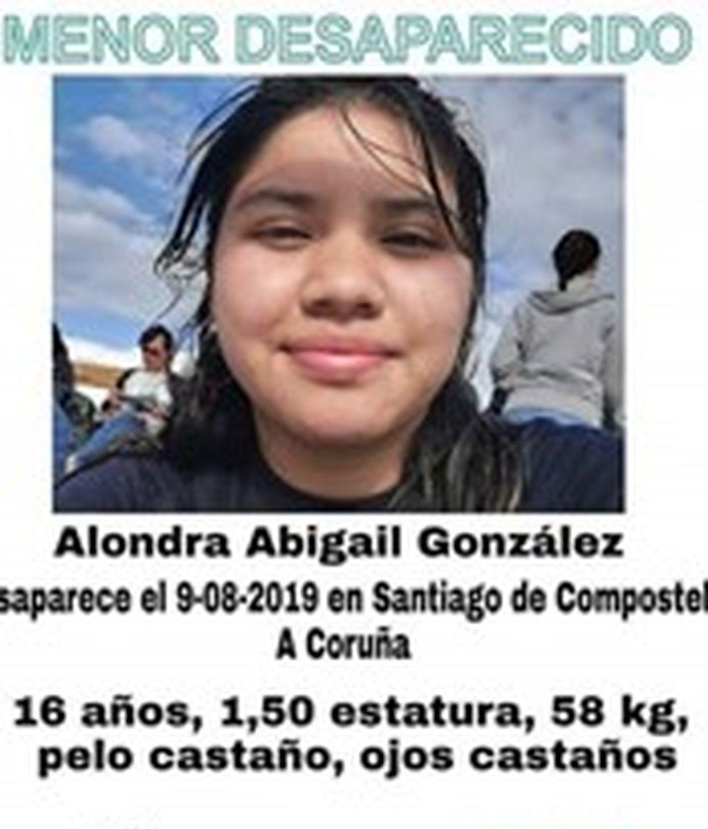 Alondra A.G desaparecida desde el Viernes en Santiago