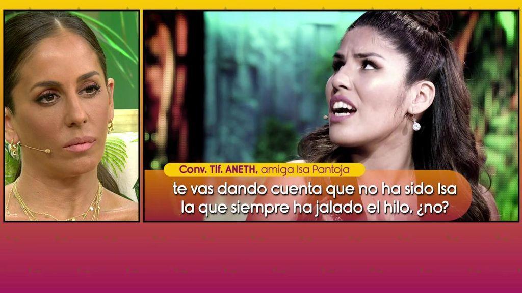 """Aneth defiende a Chabelita por la relación de Pantoja y Kiko con Omar Montes: """"Entiendo que le tenga cariño a Isabel pero no puede pasar por encima de la hija"""""""