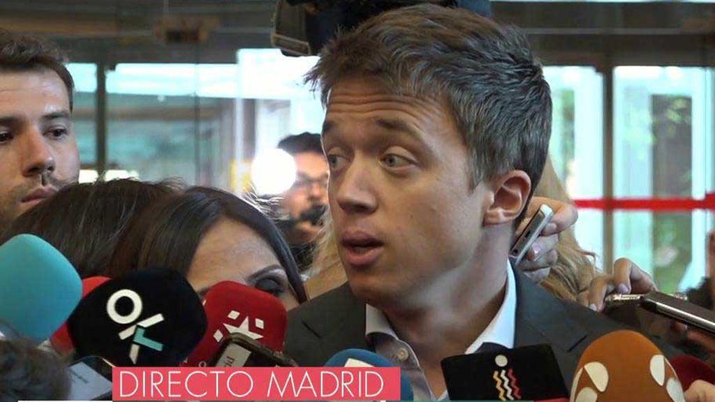 """Errejón, portavoz de Más Madrid: """"A Madrid ha vuelto el fango y me da mucha pena"""""""