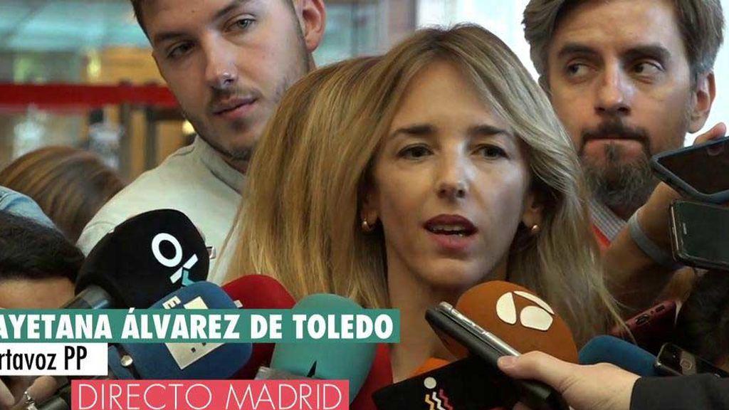 """Cayetana Álvarez de Toledo, portavoz del PP: """"Las noticias de Díaz Ayuso son de la izquierda malhumorada"""""""