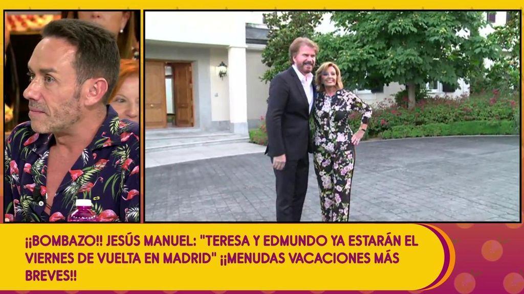 Jesús Manuel Ruiz confirma que María Teresa Campos y Edmundo Arrocet regresarán de sus vacaciones el próximo viernes: ¿Han adelantado sus vacaciones?