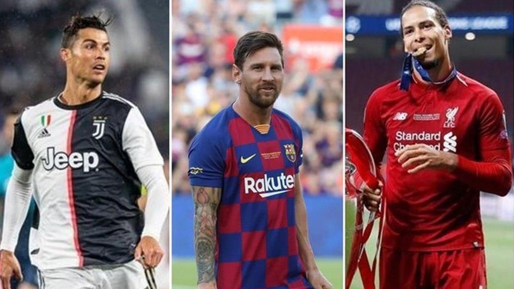 Messi, Cristiano y Van Dijk, candidatos a Jugador del Año en la UEFA