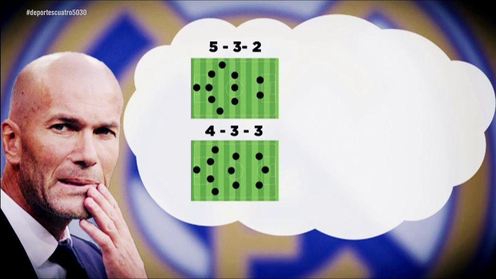 Las opciones y dudas que maneja Zidane para el debut en Liga: de Bale y James, al esquema de tres centrales