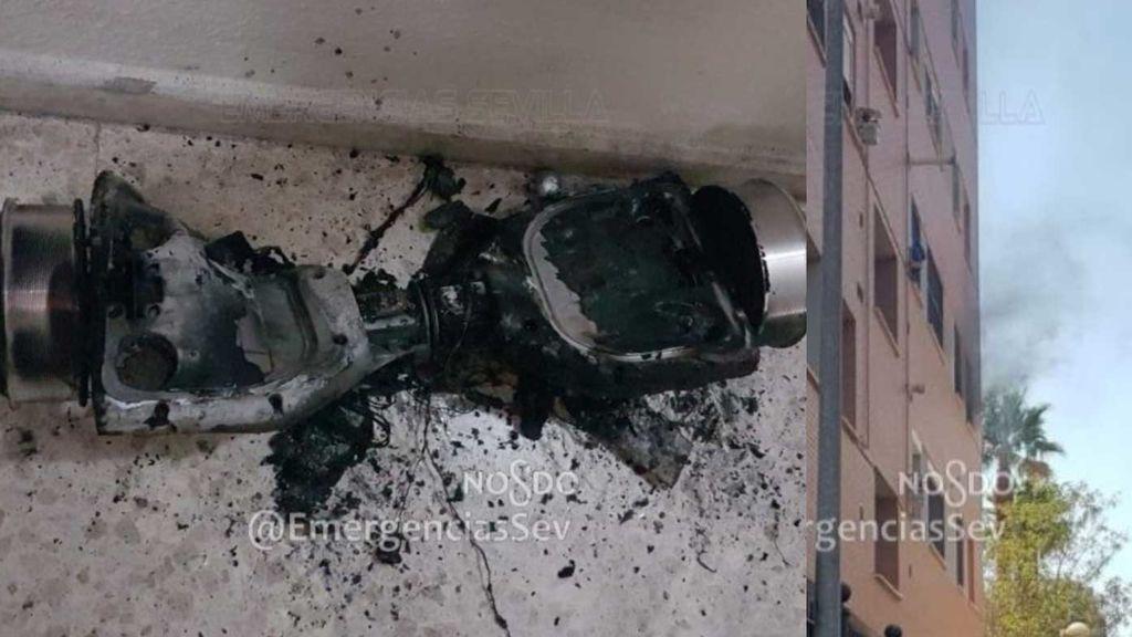 Desalojan un piso en Sevilla tras la deflagración y posterior incendio de un patinete eléctrico