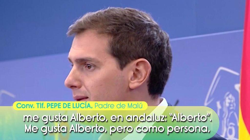 """Pepe de Lucía no cree que Malú y Albert Rivera se vayan a casar: """"Mi hija es muy independiente, Albert no sé lo que pensará, pero los jóvenes ya no son de casarse"""""""