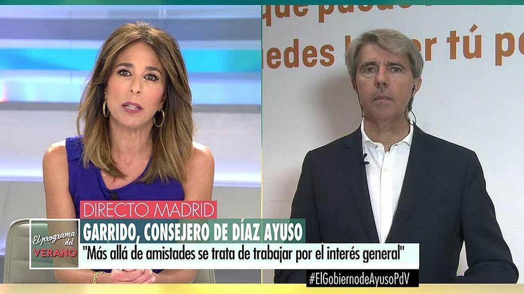 Ángel Garrido, ante las acusaciones a Díaz Ayuso