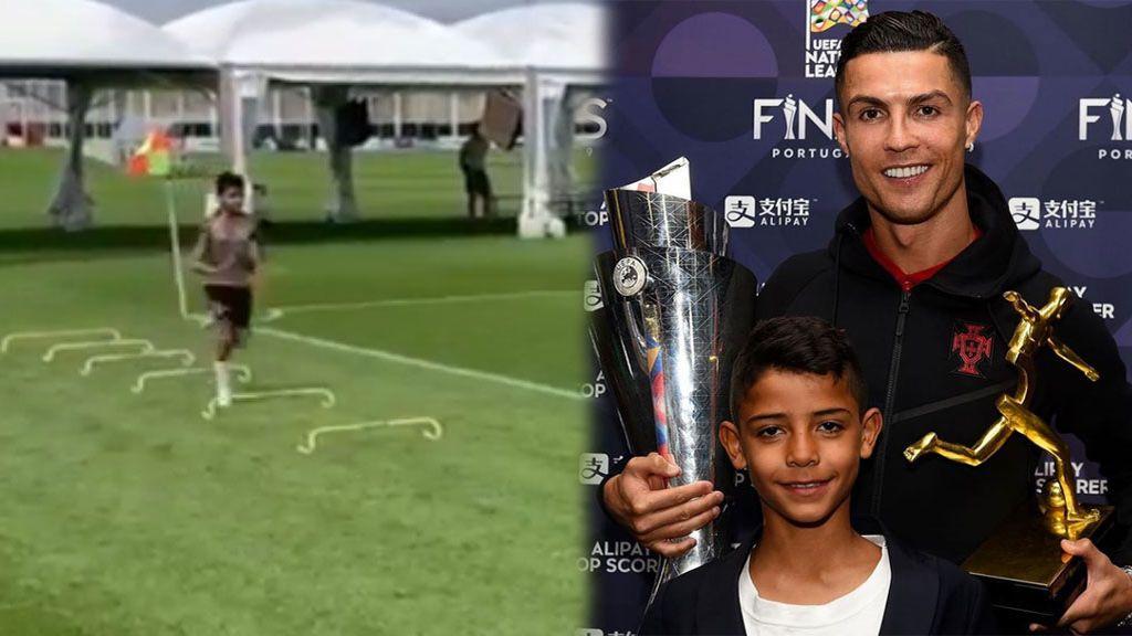 Cristiano Ronaldo ya tiene sucesor: El portugués comparte entrenamientos con su hijo mayor