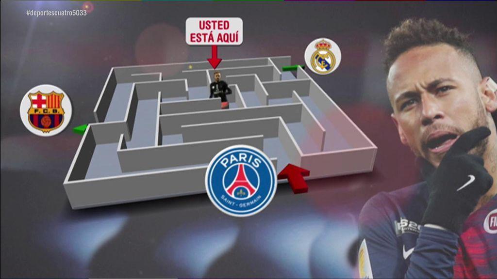 Neymar se encuentra atrapado: El laberinto del brasileño entre el Barcelona, Real Madrid y PSG