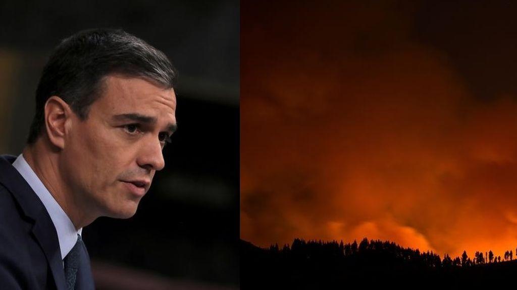 """Sánchez sigue """"con preocupación"""" la evolución del incendio en Gran Canaria"""
