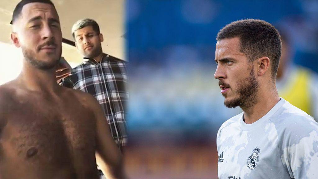 """Hazard presume de tableta tras la victoria del Real Madrid: """"Six pack"""""""