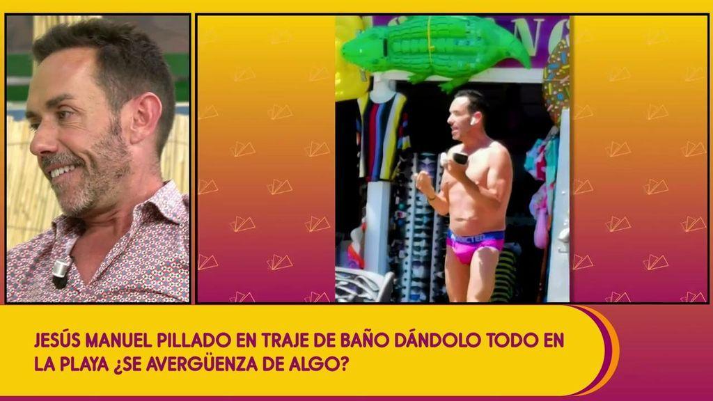 """Jesús Manuel Ruiz luce cuerpazo en la playa: """"Se lo tiene un poco creído"""""""