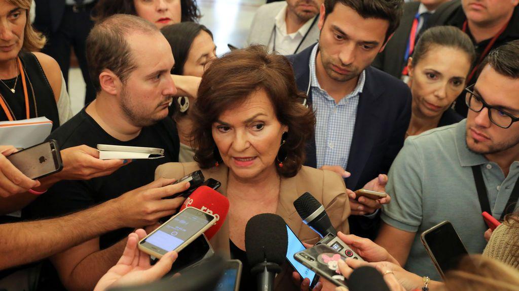 El recelo de Carmen Calvo sobre el Open Arms