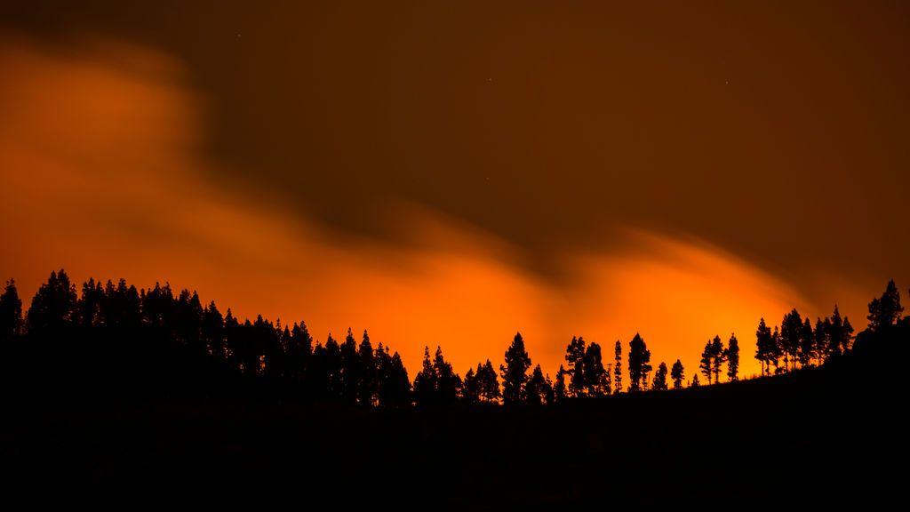 Viento y poca humedad: la meteorología no ayudará a la extinción del incendio en Gran Canaria