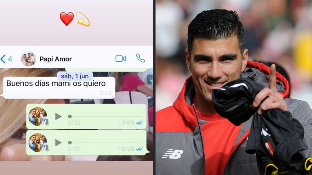 """La mujer de Reyes publica el último whatsapp que se mandó con el futbolista: """"Buenos días mami"""""""
