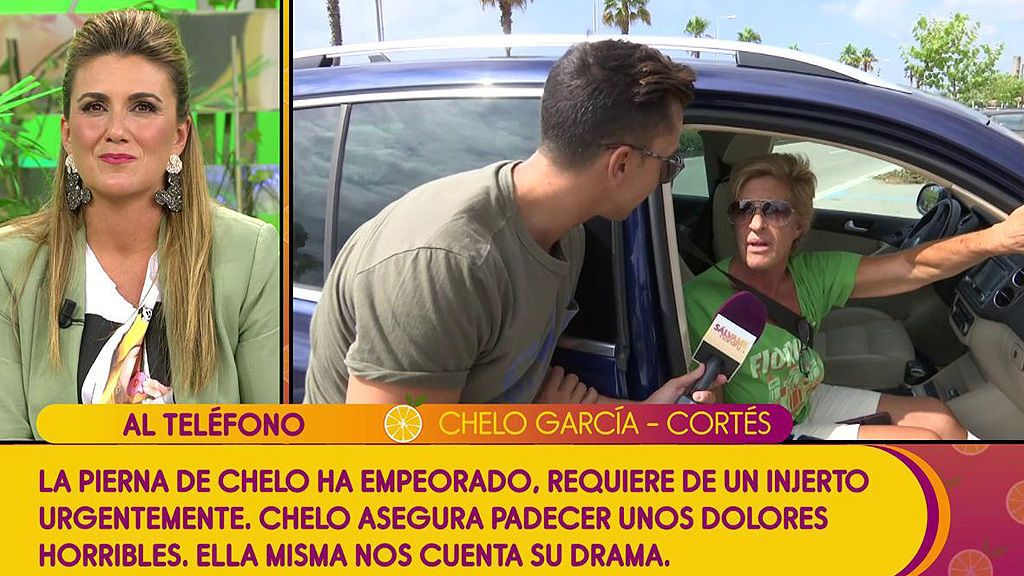 Chelo Gª Cortés se emociona hablando de su operación
