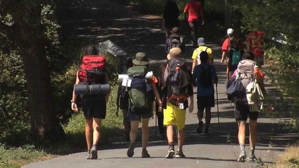 El Camino de Santiago se abarrota de peregrinos