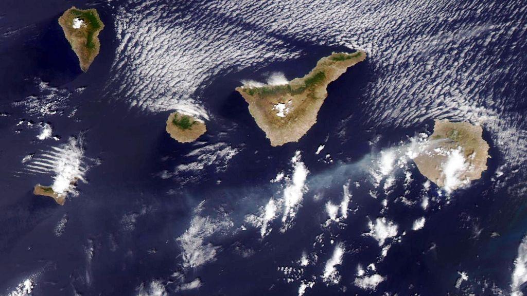 Imágenes de la NASA  del incendio de Gran Canaria