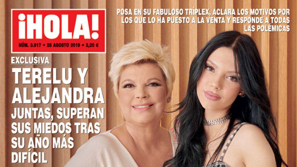 """Terelu posa junto a su hija Alejandra Rubio en la casa que venden: """"Necesito cambiar de aires"""""""