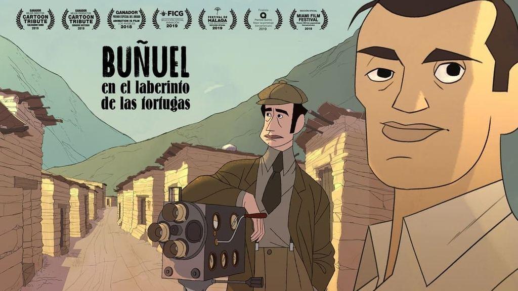 Cartel 'Buñuel en el laberinto de las tortugas' de Simó