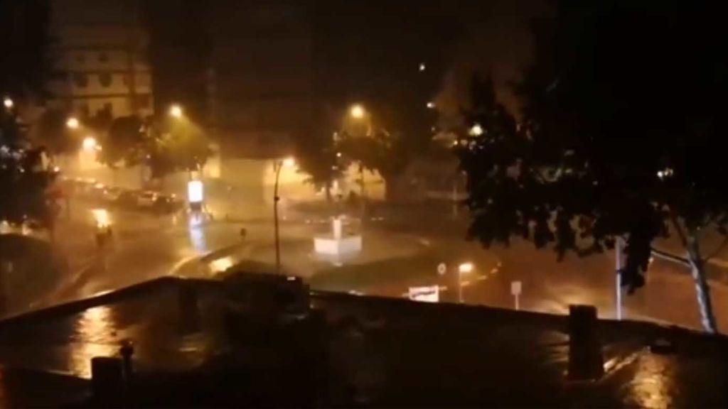 Fuerte tormentón en Madrid
