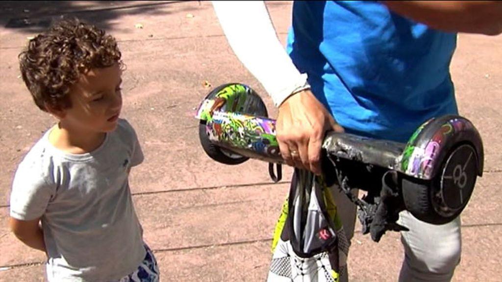 Un padre de Logroño sufre quemaduras en el brazo tras explotar un patinete eléctrico en su casa