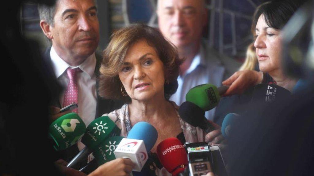 ERC y Compromís apoyan la petición de Unidas Podemos para que Carmen Calvo comparezca en el Congreso sobre el Open Arms