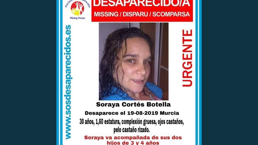 Una mujer que iba con sus hijos está desaparecida en Murcia desde el 19 de agosto
