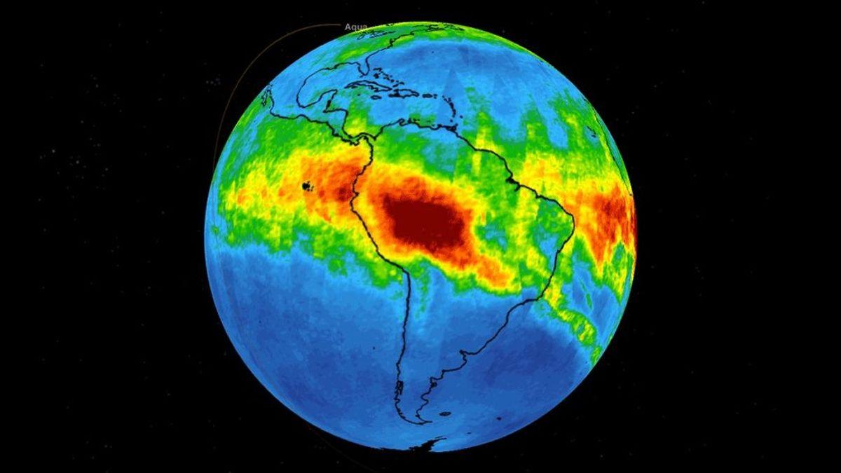 La NASA difunde imágenes de la evolución del monóxido de carbono liberado en los incendios de la Amazonia